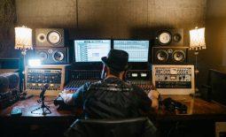 music producer in studio
