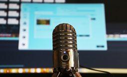microphone in music studio